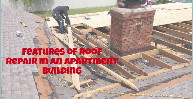 Features of roof repair in an apartment building